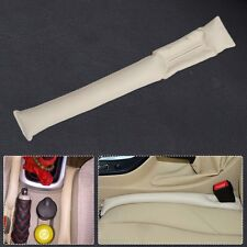 1PCS Beige Car Seat Pad Gap Space Filler Soft Stop Drop Catcher Holster Blocker