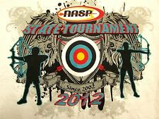NASP STATE TOURNAMENT small T shirt Ohio archery school tee 2012 bow arrow