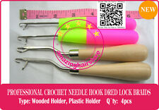 4x Latch Crochet Hair Needle Hook Dreadlock Tools/Craft DreadLock Hair Extension