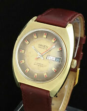 VINTAGE GRUEN PRECISION AUTOWIND AUTOMATIC MENS DAY DATE WATCH - 790 CD AS 2066