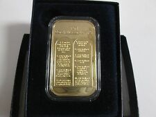 Ten Commandments 1oz .999 Fine Silver with gold plating