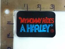 Harley Davidson Embroidered Patch - Vintage Old Stock  My Mommy Rides a Harley