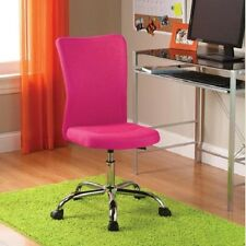 Fabric Task Swivel Pink Chair Casters Adjustable Height comfort Rolling Office