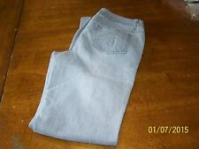 WOMENS JUNIOR GRAY EMBELLISHED JEANS SZ 9 AVERAGE-GUC
