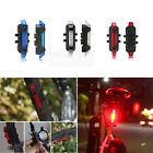 Hot 5 LED USB Rechargeable Bike Bicycle Cycling Tail Rear Safety Warning Light