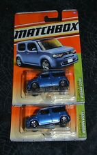 2011 MATCHBOX METRO RIDES NISSAN CUBE BLUE 30/100 SET OF TWO