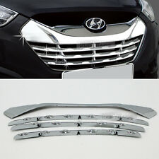 Chrome Radiator Grill Garnish Molding B222 For HYUNDAI 2010-2013 Tucson ix