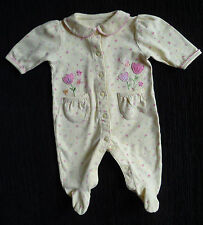 Baby clothes GIRL 3-6m Carter's tulip yellow babygrow 2nd item post-free! SHOP!
