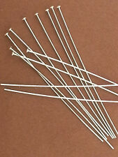 "100-Sterling Silver.925 Head Pins.2"" 24 gauge.Domed Heads.DIY Earrings.Wholesale"