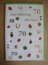 Grußkarte Zum Geburtstag alles Gute 70 Jahre Aufklappbar  C0102