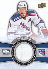 15/16 UPPER DECK SERIES 2 UD GAME JERSEY DEREK STEPAN RANGERS *18797