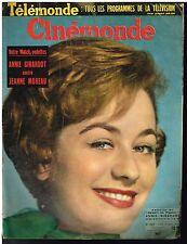 ANCIENNE REVUE CINEMONDE 1958 ANNIE GIRARDOT