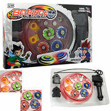 Fusion Top Metal Master Fight Rare Beyblade 4D Launcher Grip Super Battle Set