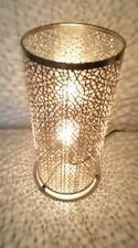 SILVER tagliati DESIGN VASO LAMPADA DA TAVOLO-LOVEY con effetto ombra quando illuminati