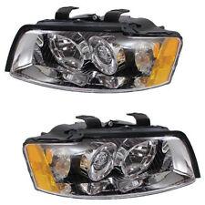 02-05 Audi A4 S4 Headlight Headlamp Head Light Lamp Left Right Side Set PAIR DOT