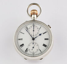Swiss Chronograph Rattrapante Split second 1890 Silver Pocket watch