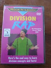 Rock 'N Learn Division Rap NEW DVD Educational Teaching Aid Math Concepts Awards