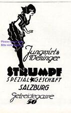 Strümpfe Jungwirt & Weninger Salzburg Reklame 1924 Nylons Strumphose Beine