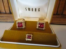 SWANK CUFF LINKS AND TIE CLIP - NEW IN BOX