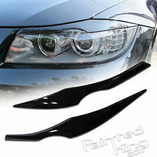 2006-2011 BMW E90 3er eyelids eyebrow Headlight Cover black 668