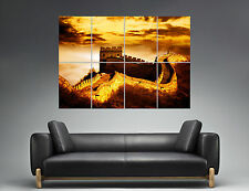 Muraille De Chine China Murail Sunset Paysage  Wall Art Poster A0 Large print