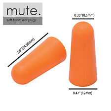 100 Pair Ear Plugs Memory Foam Soft NRR 33 BULLET by Mute Brand New in Bag