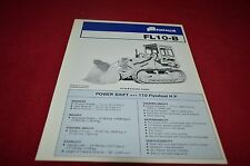 Fiat Allis Chalmers FL-10-B Crawler Loader Dealers Brochure YABE12 ver1