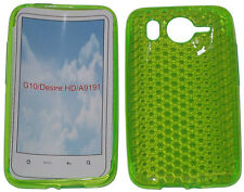 For HTC Desire HD G10 A9191 Pattern Gel Jelly Case Protector Cover Pouch Green
