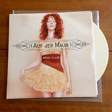 "Auf Der  Maur - Real A Lie 7"" Cream Vinyl Hole Smashing Pumpkins"