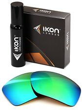 Polarized IKON Iridium Replacement Lenses For Oakley Big Taco - Emerald Green