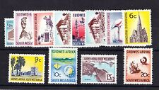 SOUTH WEST AFRICA 1966-72 COMPLETE SET SG B202-B216 MNH.