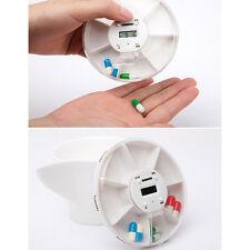 7-Day Pill Box Case Timer Alarm Clock Reminder Medicine Storage Organizer Holder