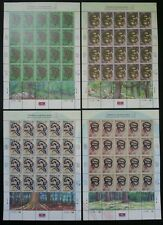 Species Of Snakes In Malaysia 2002 Reptiles Animal Fauna (stamp sheet 4's) MNH