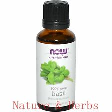 Basil (100% Pure), 1 oz - NOW Foods Essential Oil