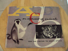 "VTG 1962 South AFRICA Game Reserves Booklet~""ABCD an ALPHABET of ANIMALS"""