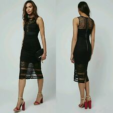 BNWT-Topshop Women Black Maxi Lace Dress Size 6/8 (SOLD OUT ITEM)/WAS £95