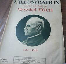 Revue L' ILLUSTRATION 1929, Maréchal Foch… World FREE Shipping*