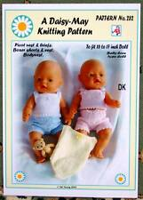 DOLLS KNITTING PATTERN 4 BABYBORN BY Val Young No 282