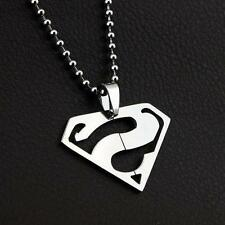 NEW DC SUPERMAN Boy Child Fashion Stainless Steel Pendant Charm Chain Necklace