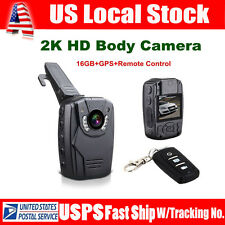 "S60 Police Body Worn Camera 16GB GPS HD 2K 2.0""LCD Night Vision +Remote Control"