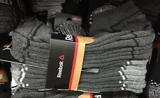New Men's REEBOK Low Cut Sport Performance Socks Gray Running Crossfit