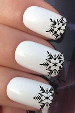 CHRISTMAS NAIL ART SET #763 SNOWFLAKE STAR TIPS WATER TRANSFERS DECALS STICKERS
