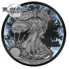 2016 US  Walking Liberty Deep Frozen Edition 1oz Ruthenium BU Silver Coin