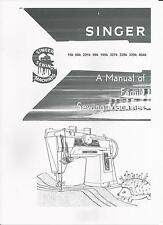 Singer Sewing Machine Manual (photocopy) Model 15k, 66K, 201K, 99K, 185K, 327K,