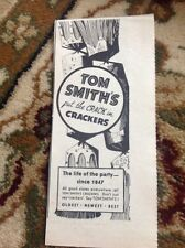 Ephemera 1936 Advert Tom Smith's Smiths Crackers The Life Of The Party M47