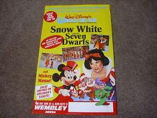 Walt Disney  WORLD on ICE Snow White  WEMBLEY Arena Original Theatre Poster 1989