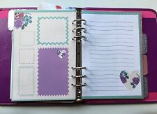 Filofax A5 Organiser Planner - Pretty Paper with Hearts & Boxes - set of 20