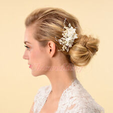 Classic Bridal Wedding Hair Comb Pearl Crystal Rhinestone Flower Hair Accessory