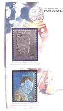 UNUSUAL 1999 STAMP MADE-OF PEWTER & NIOBIUM ART LAUREATE P.RAMLEE W/FOLDER+BONUS
