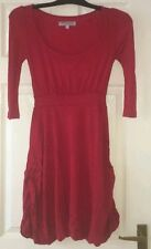 Ladies/girls Red/wine Asos petite Dress Size 6 bauble hem.